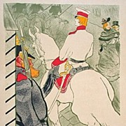 French Lithograph 'Babylone D'Allemagne' by Toulouse-Lautrec 1930.