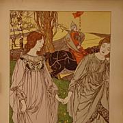 Original Signed French L'Estampe Moderne series Lithograph 'Le Passant' 1898
