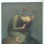 English Postcard 'Hope' by Watts.