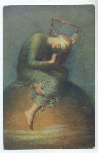 English Postcard 'Hope' by Watts.