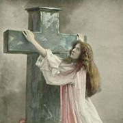 Three Heavenly Virtue 'Faith, Hope & Charity' Real Photo Postcards 1907