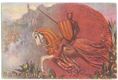 Spanish Commemorative Postcard James 1st 1908.