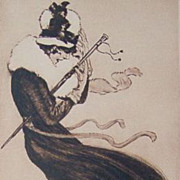 Rare 'Saucy' Art Deco German Signed Sepia toned Heliogravure 1920 by major 20th century artist Max Bruning.
