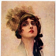 Art Deco Italian Signed Postcard by Corbella..1918.