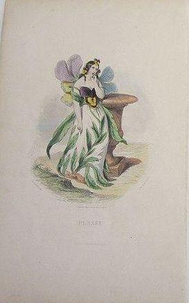 Original Signed Grandville French Engraving 'Pensee' 1867.