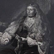 Rembrandt Engraving 'Great Jewish Bride'  Victorian c1880.