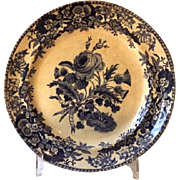 Spode Blue & White Plate, Union Wreath 3: circa 1825