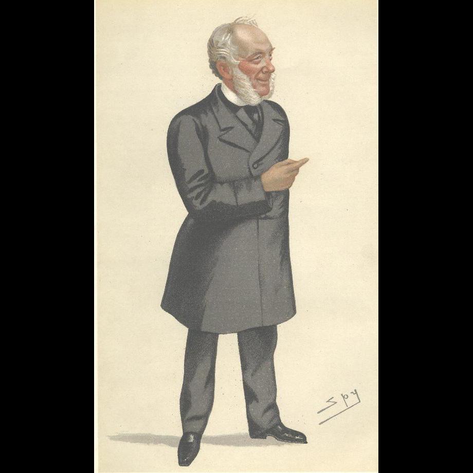 Victorian Spy Print From Vanity Fair Samuel Smiles