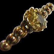 Gold & Citrine Bar Brooch