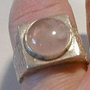 Sterling Silver & Rose Quartz Ring