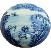 Chinese Blue and White Seal Paste Ink Pot