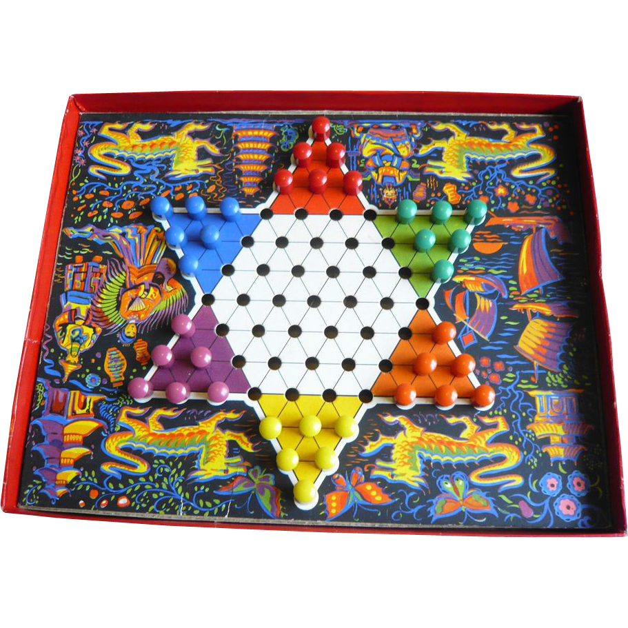 Boxed game of Chinese Chequers (Chinese Checkers): Mid C20