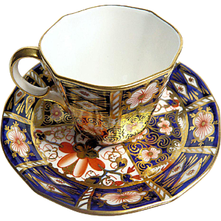 Royal Crown Derby Imari Pattern Demitasse Coffee Cup and Saucer