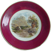 Hand Painted Plate: Eagle Crag: Powell & Bishop: 1876-8
