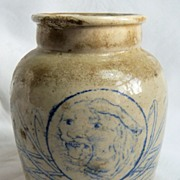 Stoneware Pot with Tiger