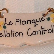 Fun Ceramic Wine Label: Le Plonque