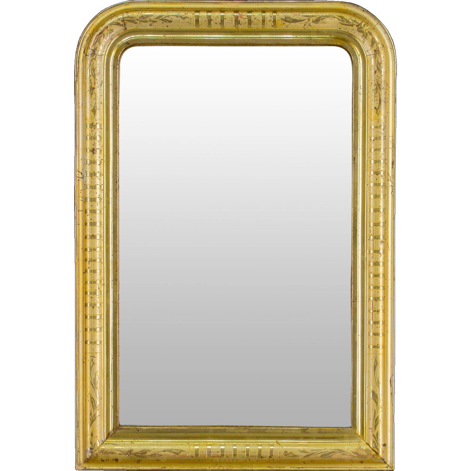 19th c. Louis Philippe Gilt Mirror