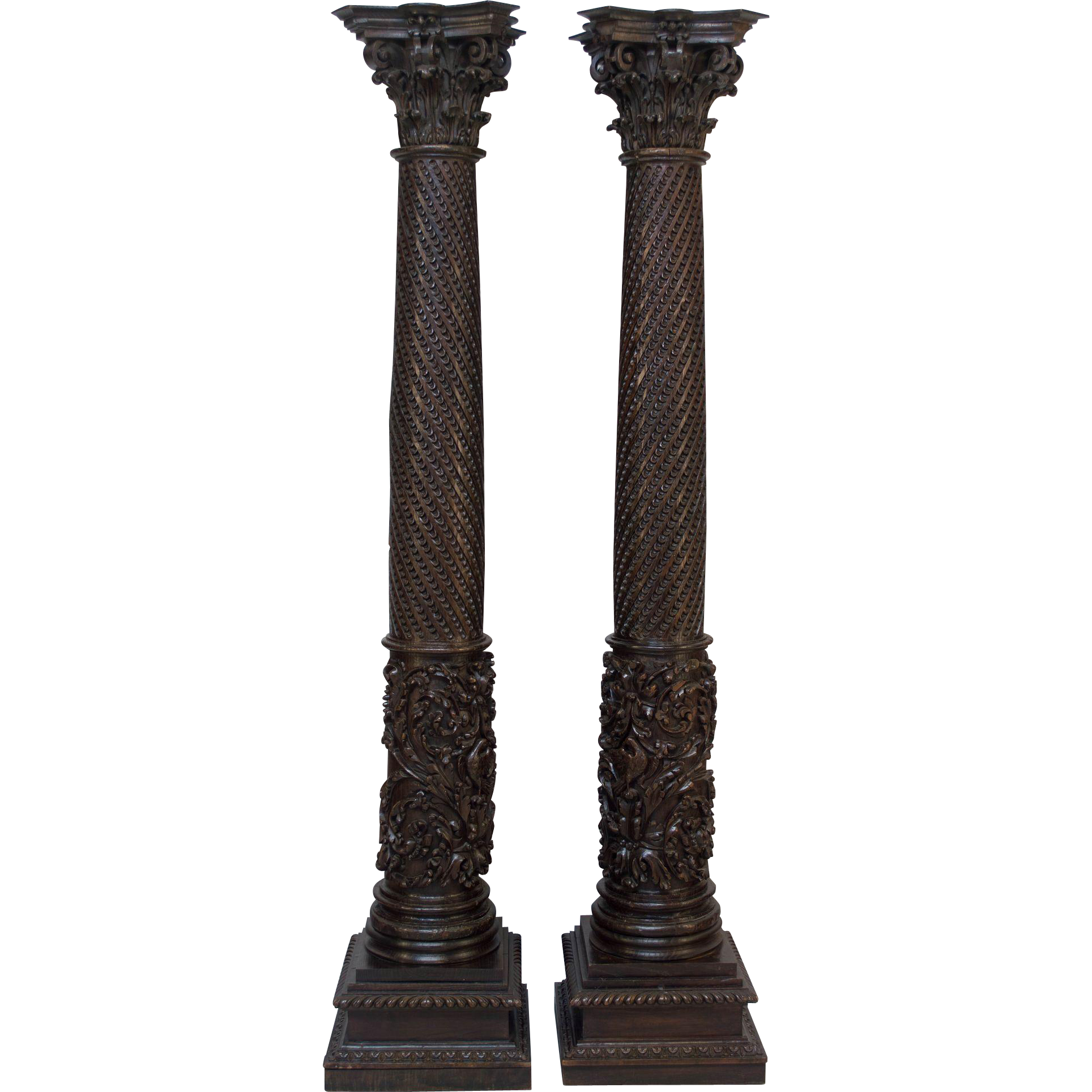 Pair of 18th Century French Neoclassical Columns