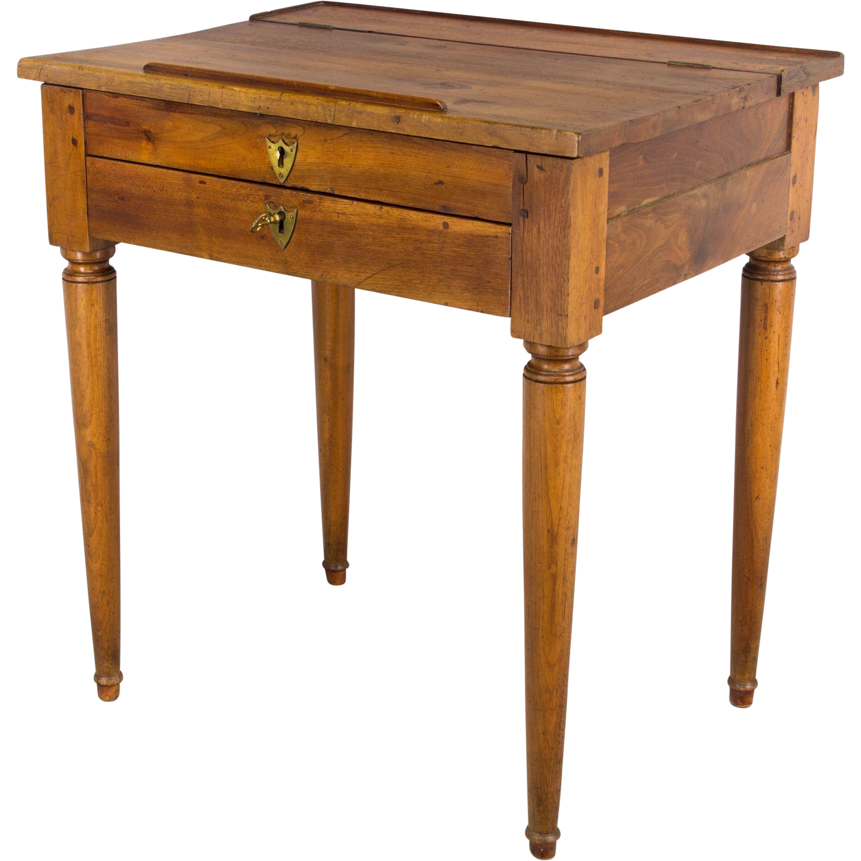 19th c. French Country Walnut Desk