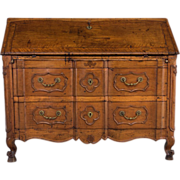 French Period 18th c. Louis XV Scriban or Slanted Desk