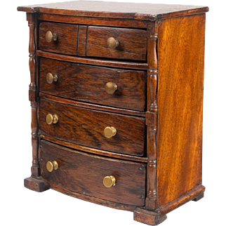 19th c. English Miniature Chest of Drawers