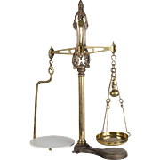 Cast Iron & Brass Balance Scale