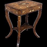 19th c. Italian Inlaid Side Table