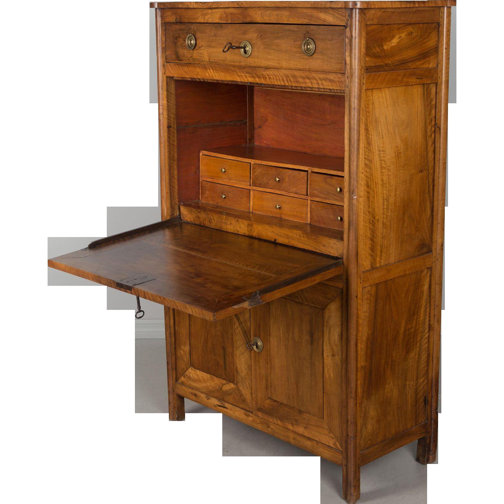 19th c. Restauration Secretaire à Abbattant or Desk