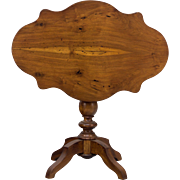 19th c. French Walnut Gueridon or Tilt Top Table
