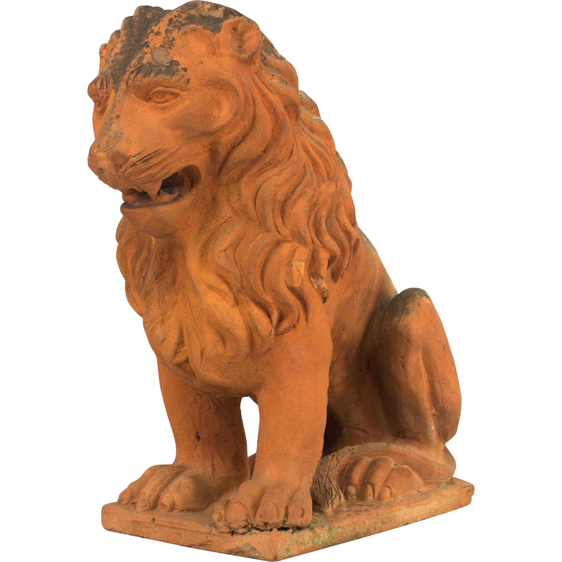 19th c. French Terracotta Lion