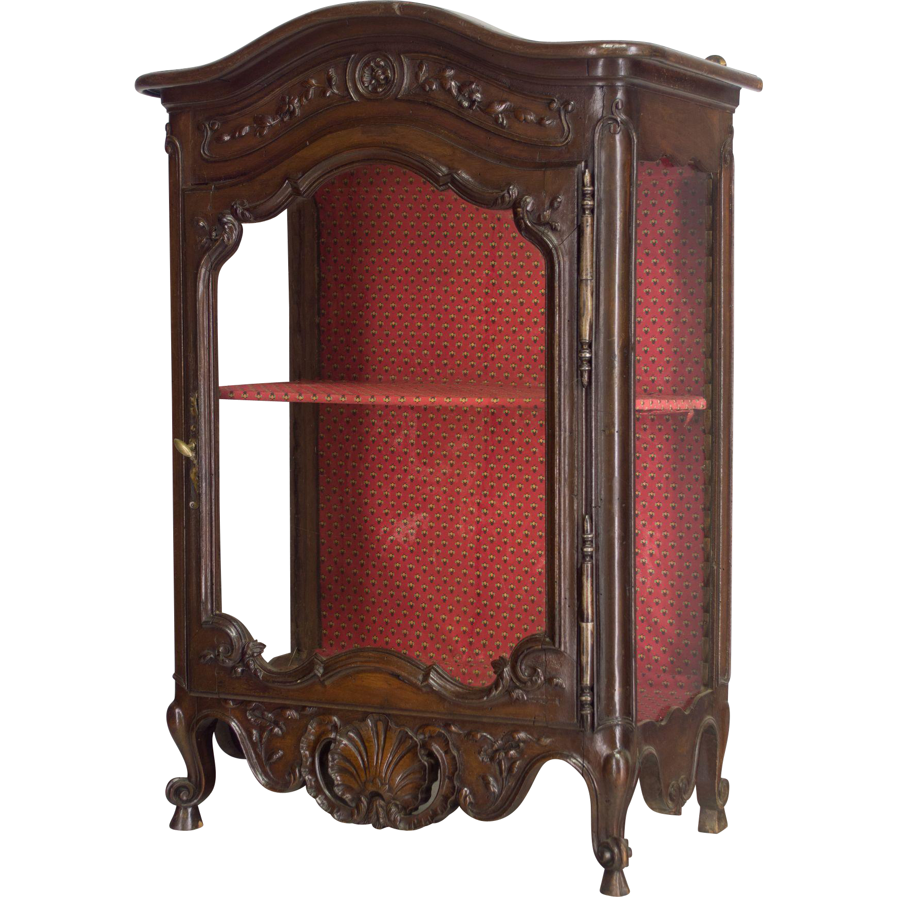 19th Century Louis XV Style Provençal Verrio or Display Cabinet