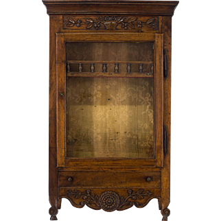 18th Century French Louis XV Verrio or Display Cabinet
