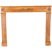 Louis XVI Style Walnut Mantle