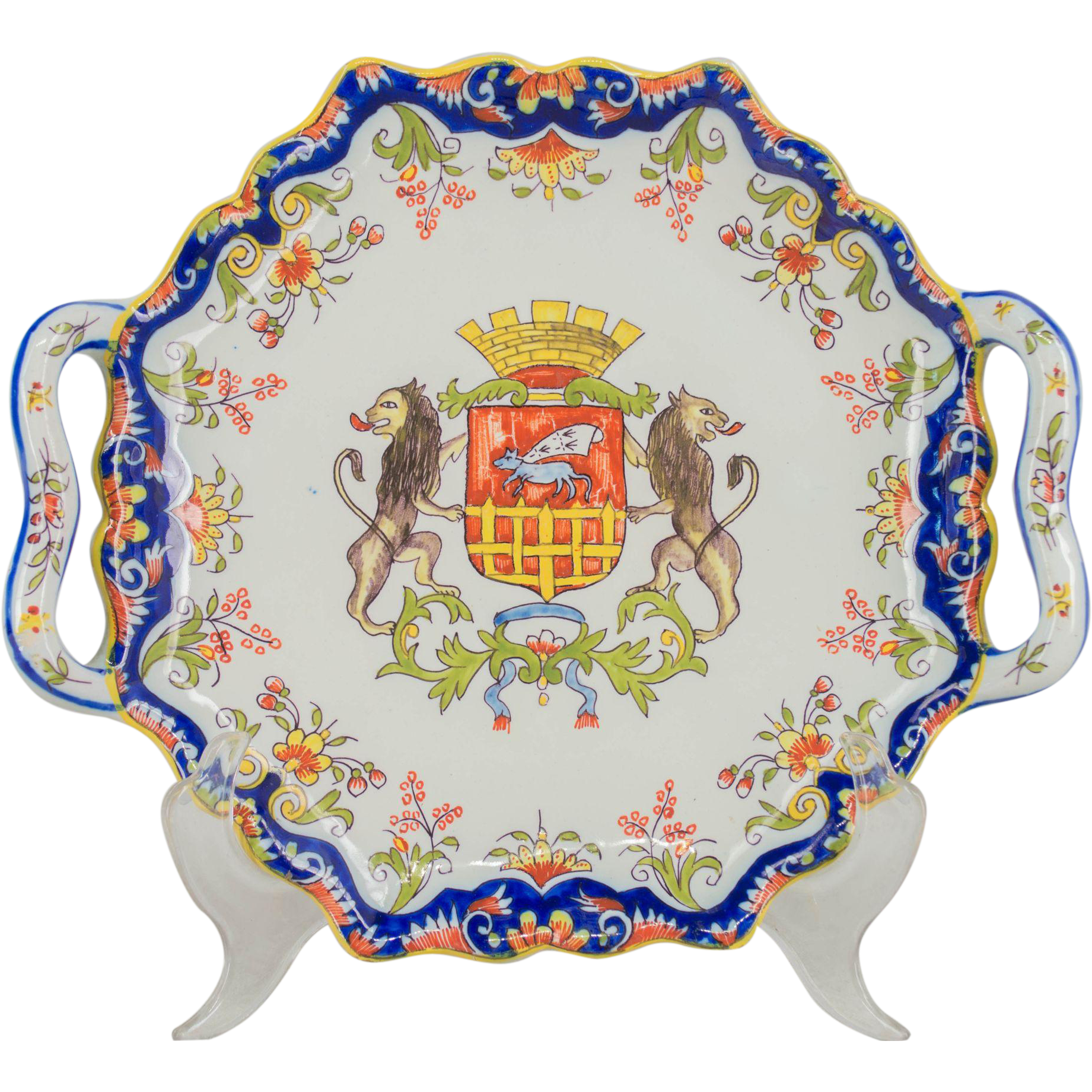 19th c. French Faience Desvres Platter