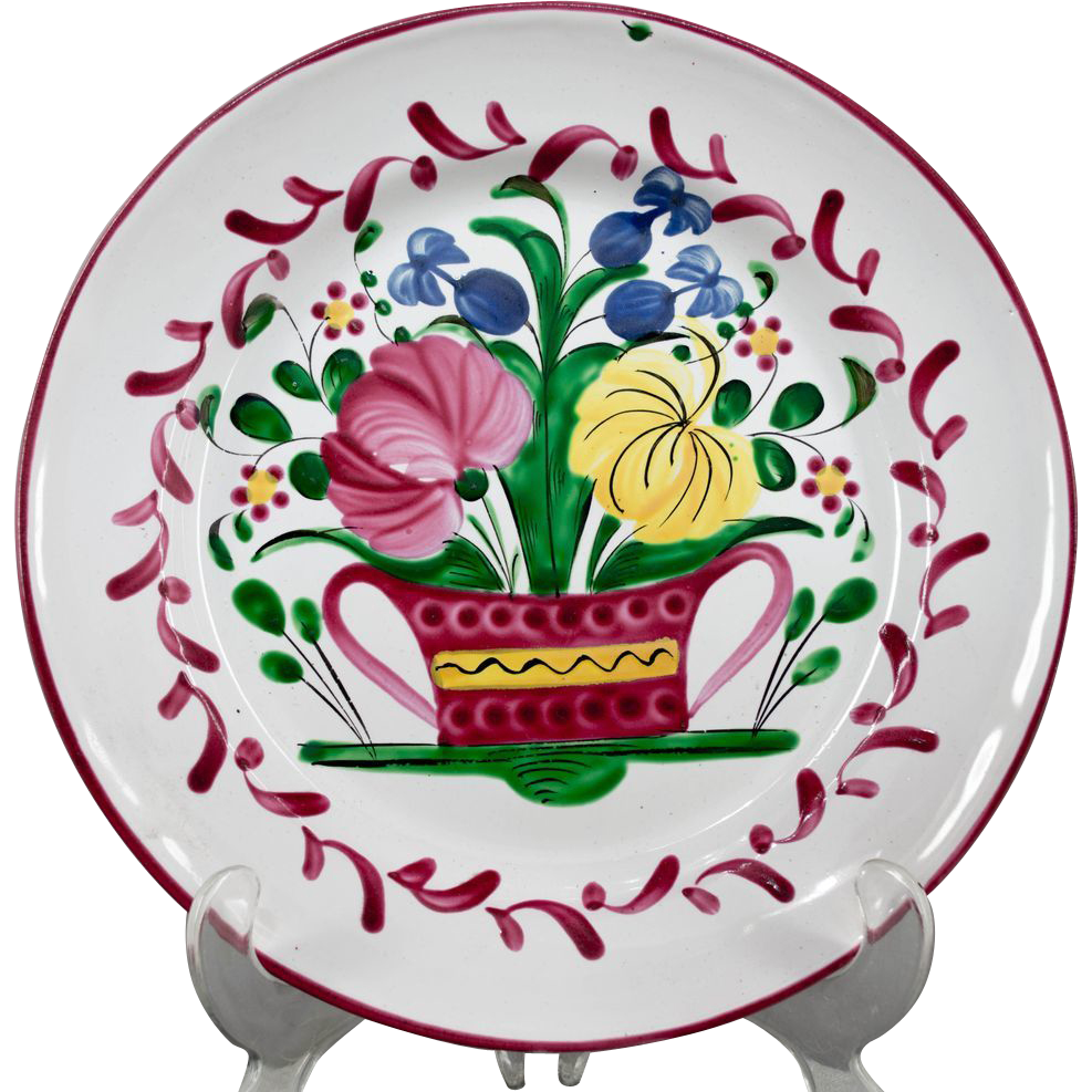 19th c. French Faience Plate