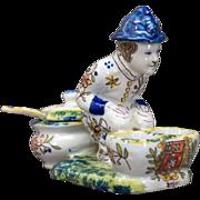 Faience of Desvres Salt & Pepper Figurine
