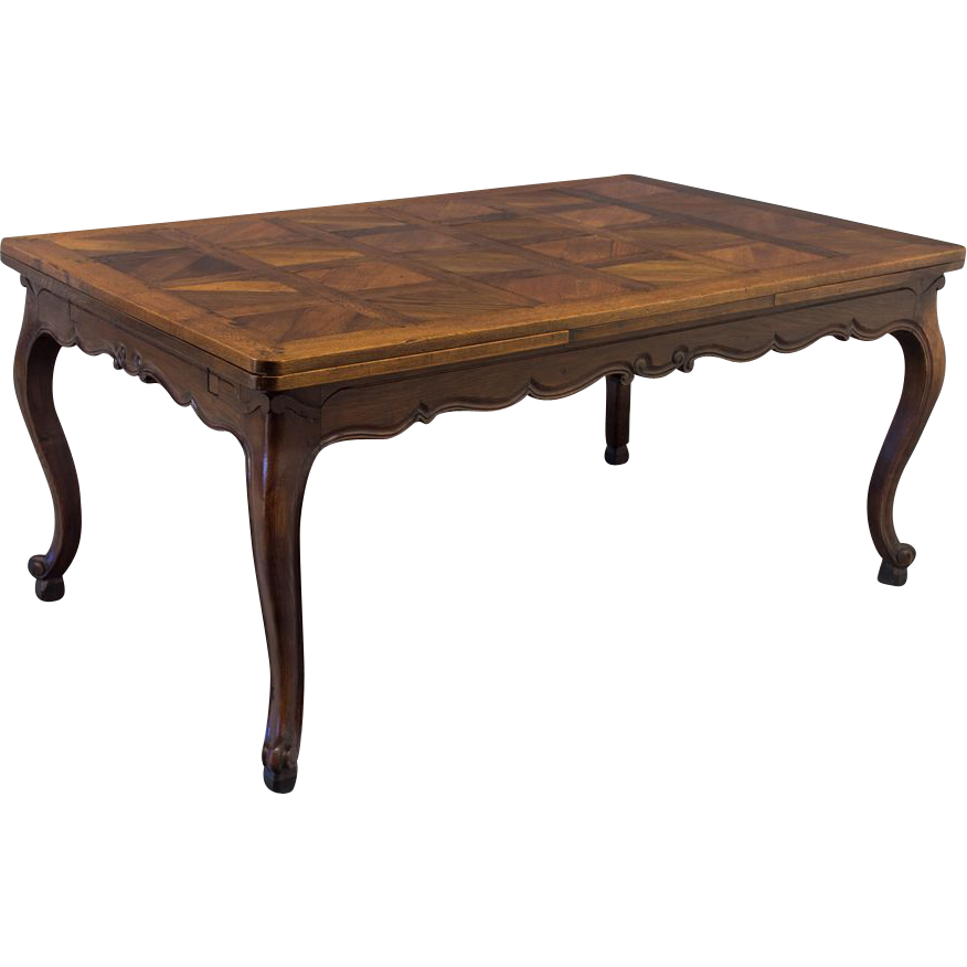 19th century french louis xv style refractory dining table from