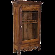 18th c. Provencal Miniature Armoire or Verrio