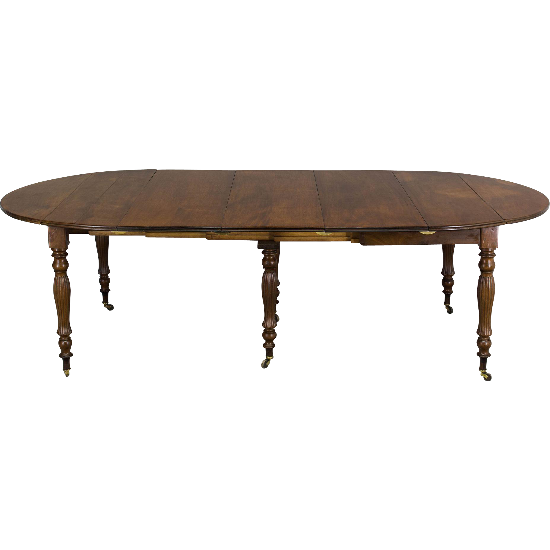 19th c louis philippe mahogany dining table from ofleury for Table louis philippe
