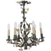 19th c. French Iron Chandelier