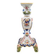French Faience Candlestick Desvres