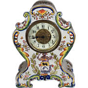 French Faience of Desvres, Mantle Clock