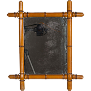 French Faux Bamboo Mirror