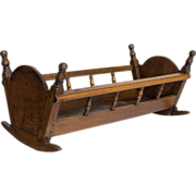 19th c. French Walnut Cradle or Planter
