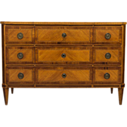 18th Century Louis XVI Marquetry Commode or Chest of Drawers