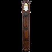 French Louis XV Style Walnut Tall Case Clock
