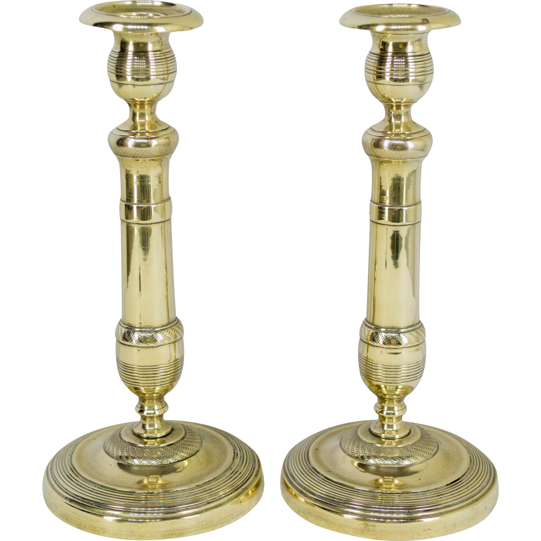 Pair of 19th c. French Candlesticks
