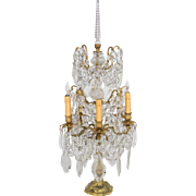 French Crystal Six Light Girandole