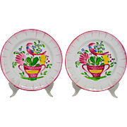 Pair of 19th c. French Plates