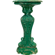 19th Century French Cast Iron Bird Bath